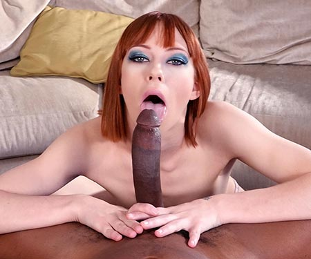 Alexa Nova deep throats a big black dick POV style Isiah Maxwell
